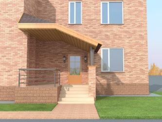 Как пристроить крыльцо к кирпичному дому?
