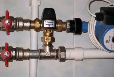 Как установить трехходовой клапан на теплый пол?
