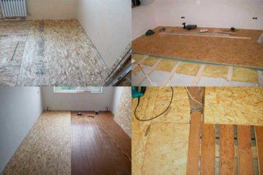 Что стелить под ОСБ на деревянный пол?
