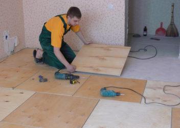 Как стелить ДСП на деревянный пол?